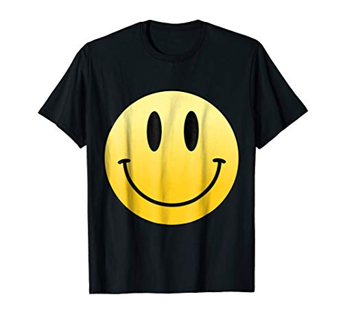 Mr Happy Smiley Face Positive Cute T Shirt ()