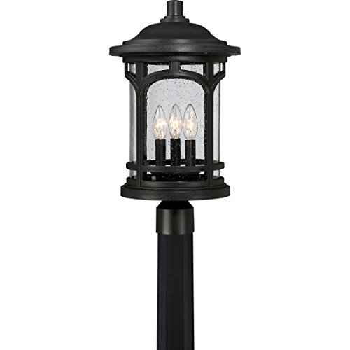 Quoizel MBH9011K Marblehead Outdoor Post Mount, 3-Light, 180 Watts, Mystic Black (19