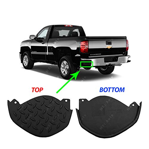 MBI AUTO - Textured, Rear LH Bumper Step Corner Pad for 2014-2018 Silverado Sierra 1500 14-18, GM1138101