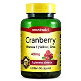 Cranberry 400mg Vitamina C e Zinco - Maxinutri