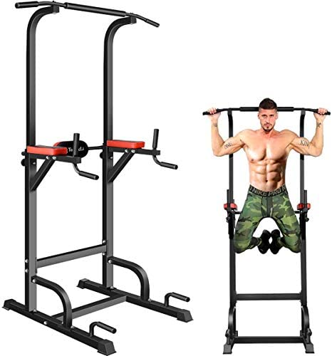 BangTong Li Power Tower Workout Pull Up Dip Station Adjustable Multi-Function Home Gym Fitness Equipment