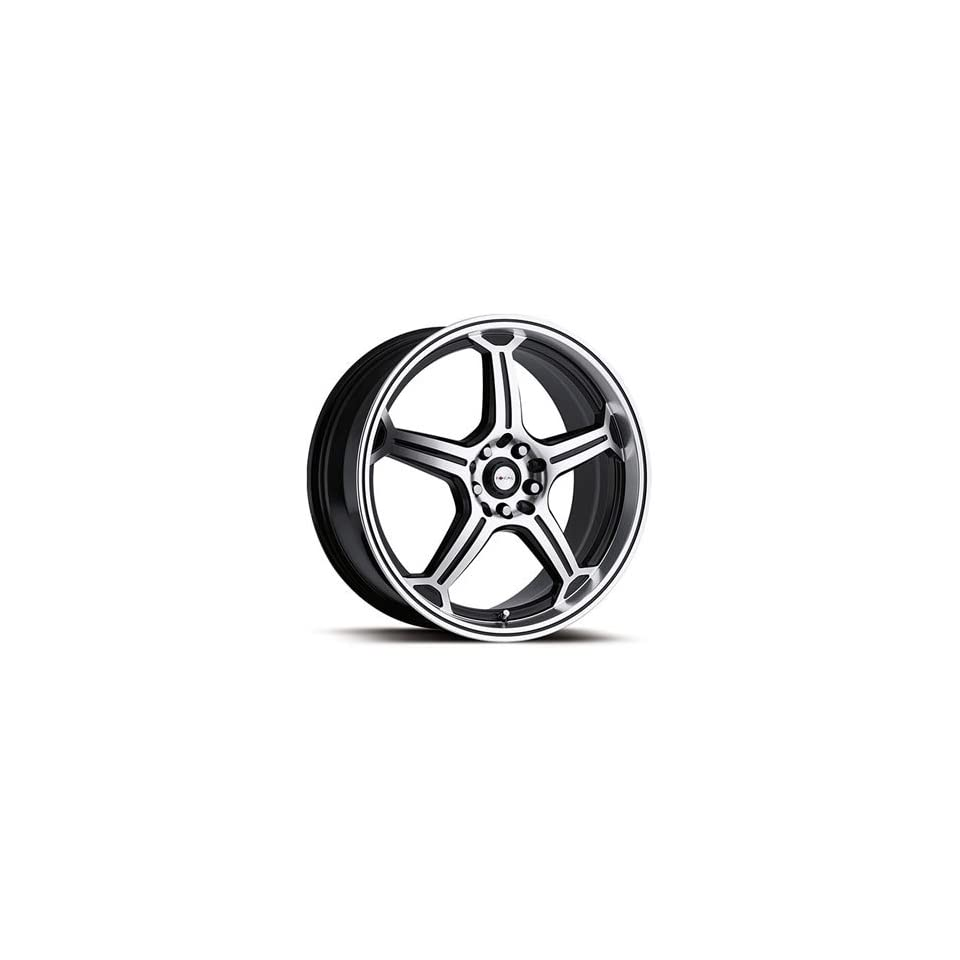 Focal F 01 18x8 Machined Black Wheel / Rim 5x4.25 & 5x4.5 with a 20mm Offset and a 72.62 Hub Bore. Partnumber 172 8814BR