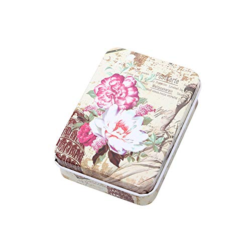 (Usstore  Women Portable Jewelry Box Travel Mandatory Tinplate Cosmetic Case Organizer Storage Cartoon Printed (B1, App 9X6.5 cm) )