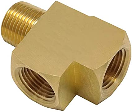 Size : 1//4 Copper Model 3750 Zyj stores Air Conditioning Copper Tube 2pcs 1//8 1//4 3 Way Brass Hose Tube Fitting Female and Male Run Tee Joint with NPT Thread
