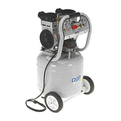Quipall 10-2-SIL Oil Free Silent Compressor, 2.0 HP, 10 Gallon, Steel Tank
