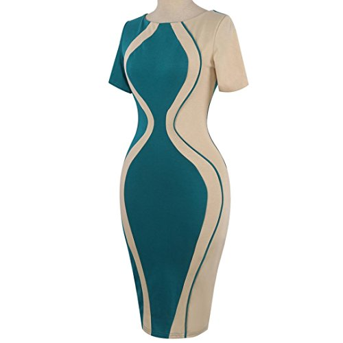 ❤ S5XL Damen Party Club Kleider ❤ Pinup Rockabilly Kleid ...