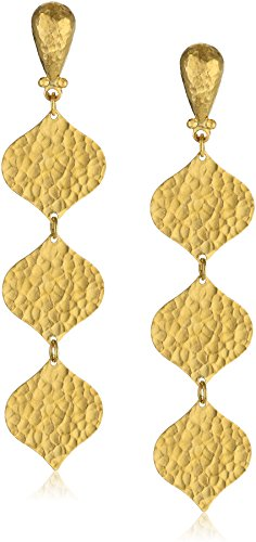 GURHAN Clove Yellow Gold Triple Drop Earrings