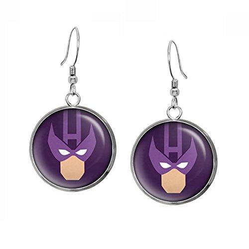 Hawkeye Earrings, The Avengers Captain America Necklace Jewelry, Shield Pendant, Superhero Earrings Gifts Gift, Geek Geeky Present -