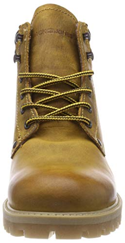 Honey amp; Honey Boot Hombre JACK para JONES Leather Motero Jfwstoke Honey Botas Estilo Amarillo ZqpXU