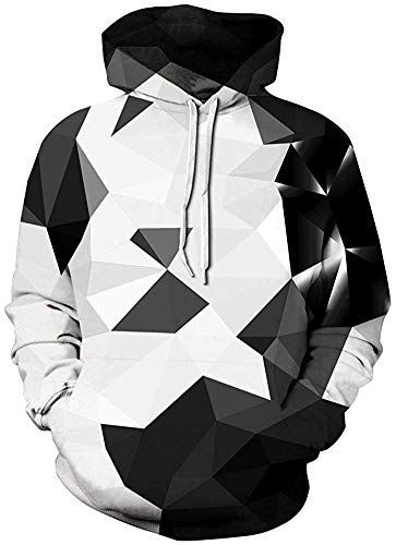 Pandolah Men's Patterns Print Athletic Sweaters Fashion Hoodies Sweatshirts (S/M, ()