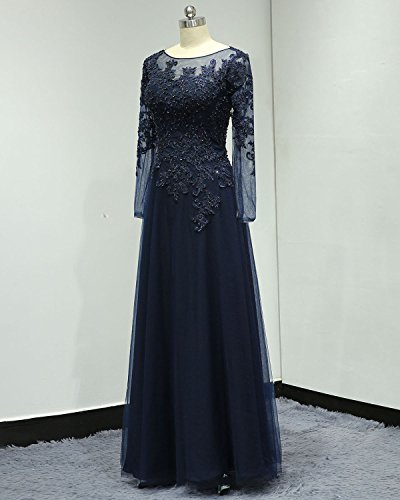 d2f45929a ... Mother of The Bride Dress Long Sleeves Evening Formal Gown (US 14,  Teal). ; 