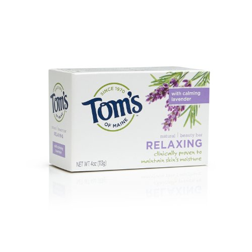 Tom's of Maine Natural Beauty Bar Soap, Relaxing with Calming Lavender, 4 Ounce, Pack of 6