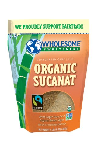 Les édulcorants sains Équitable Biologique Sucanat (Brown Sugar), pochettes de 16 onces (pack de 12)