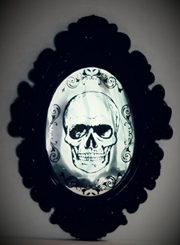 (Halloween Skull Mirror Hanging Wall Decor)