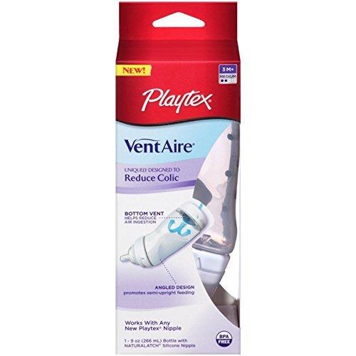 Playtex Ventaire Advanced 9 oz Bottle, Medium Flow Nipple EA