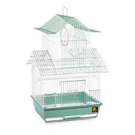 Prevue Hendryx SP1720-4 Shanghai Parakeet Cage, Green and White