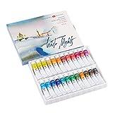 Artist Watercolor Paint Set 24 Tubes Colors White