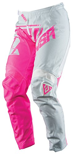 Answer Racing A18 Syncron Women's Off-Road Motorcycle Pants - Grey/Pink / Size 14