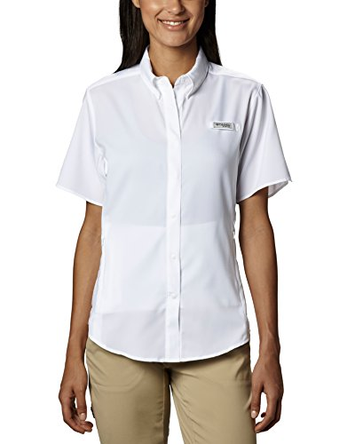 (Columbia Women's Tamiami II Short Sleeve Fishing Shirt (White, Large))