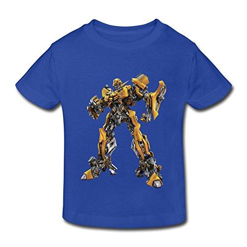 Kids Toddler Transformers Little Boy's Girl's T Shirts RoyalBlue Size 5-6 Toddler (Mulan Blue Dress)