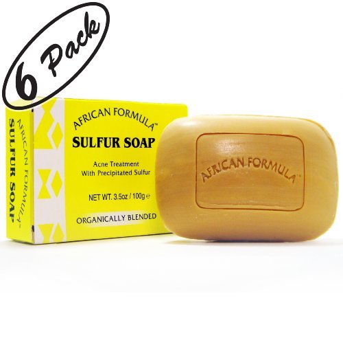 Sulfur Soap Jabon de Azufre (6-PACK) Acne Treatment Facial Soap (3.5oz)