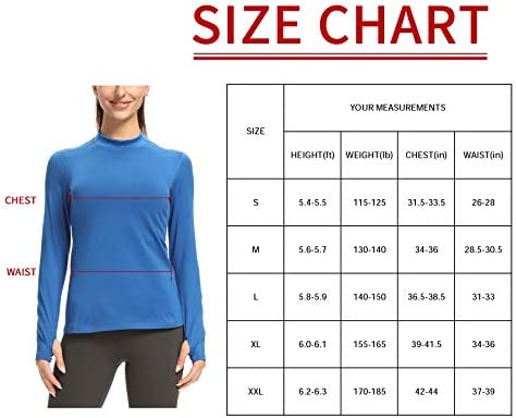 CQC Women's Fleece Thermal Long Sleeve Running Shirt Mock Neck Compression Workout Yoga Tops