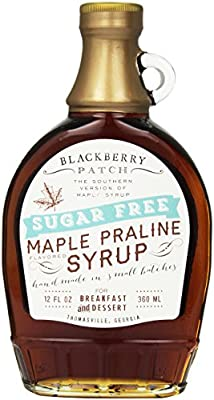 Maple Syrup, Sugar Free – Blackberry Patch 12 fl. Oz Bottle – Authentic Maple Flavor, Old Fashioned Style Syrup for Pancakes, Waffles and French Toast, Thick and Sweet – Low Calorie to Keep the waist line thin through the holidays!