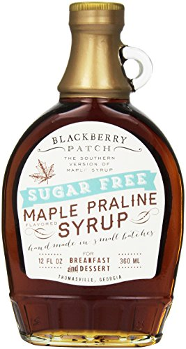 Maple Syrup, Sugar Free – Blackberry Patch 12 fl. Oz Bottle – Authentic Maple Flavor, Old Fashioned Style Syrup for Pancakes, Waffles and French Toast, Thick and Sweet – Low Calorie to Keep the waist line thin through the (Blackberry Patch)