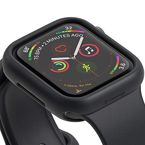 Nero Case - Caseology Nero for Apple Watch Series 4-44mm Case (2018) - Minimal & Slim - Black