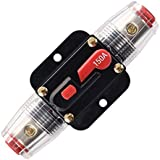 ANJOSHI 150A Fuse Holders Inline Circuit Breaker for Car Audio and Amps Overload Protection Reset Fuse Inverter 12V-24V…