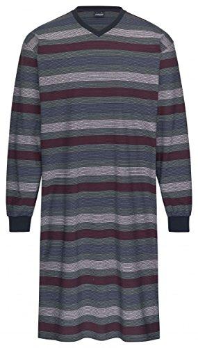 Ammann Nachthemd Langarm 9896 16 blau / oliv / rot gestreift