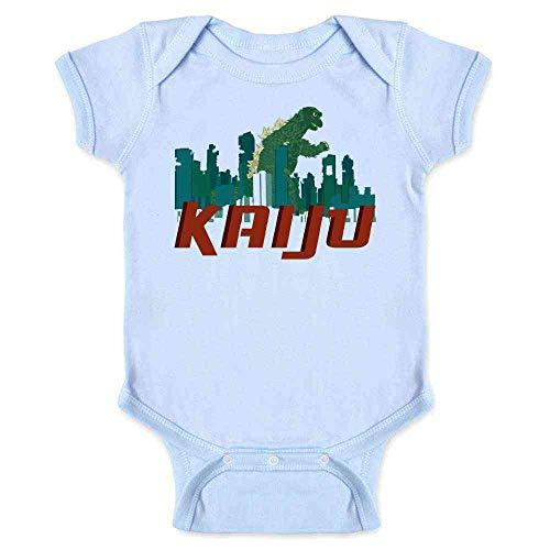 Pop Threads Kaiju Destroying The City Light Blue 6M Infant Bodysuit