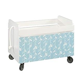 Sauder Pinwheel Rolling Toy Box, Soft White finish