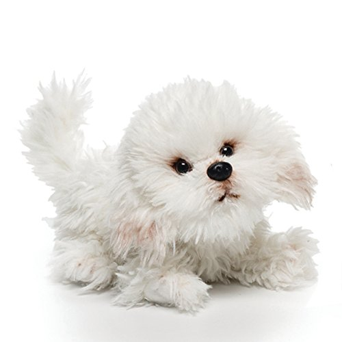- Nat and Jules Playful Small Bichon Frise Dog Children's Plush Stuffed Animal Toy