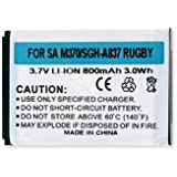 Samsung SPH-M400 Cell Phone Battery (Li-Ion 3.7V 800mAh) Rechargable Battery - Replacement For Samsung SGH-A837 Cellphone Battery