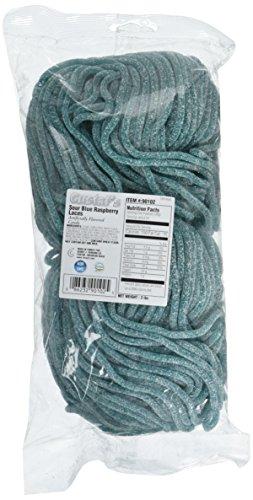 (Gustaf's Sour Blue Raspberry Laces, (2 lb. bag) - 2 lb. bag)