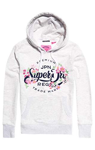 Lw nbsp;capuche Superdry Marl Floral Entry 54g Grigioice Sweat À Femme Premium Script XOuPkZi