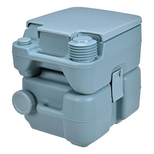 20L Easy Carry & Clean Portable TravelFlush Toilet Greenish Gray Potty by FDInspiration (Image #3)