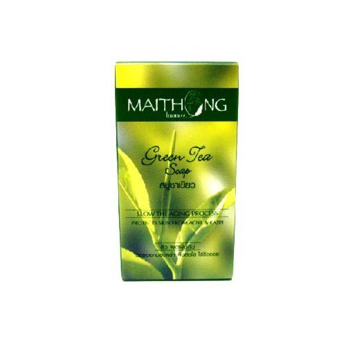 Maithong Green Tea Natural Anti-oxidant Anti-aging Acne Blemish Herbal Herb Soap Made From Thailand by molona ()