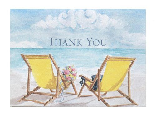 - Hortense B. Hewitt Wedding Accessories Thank You Note Cards, Seaside Jewels, Pack of 50