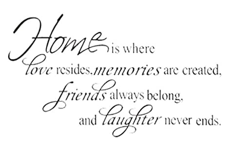 fullhome home friends laughter quotes wall sticker vinyl murals