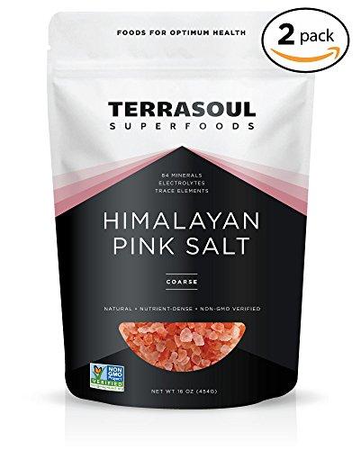 Terrasoul Superfoods Himalayan Pink Salt (Coarse), 2 Pounds