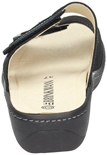 Dr. Brinkmann Dr. Brinkmann Damen Pantolette - Zuecos de Piel para mujer Negro negro Negro - negro