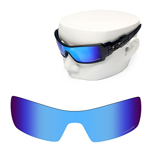 OOWLIT Replacement Sunglass Lenses for Oakley Oil Rig Blue Mirror - Oil Rig Polarized Lenses