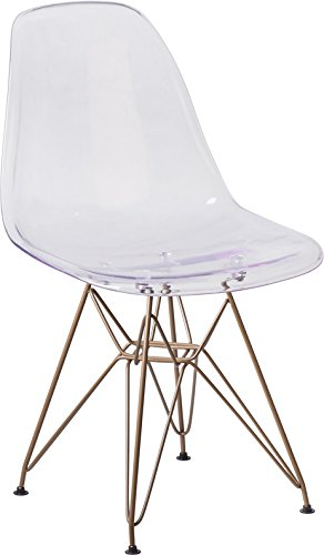 Emma + Oliver Ghost Chair with Gold Metal Base ()
