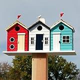 Cheap Home Bazaar Hand-made Brighton Beach Huts Bird House – Eco Tough – Home Decor
