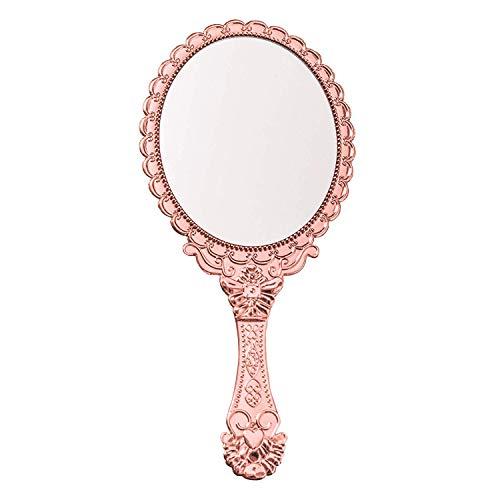 Decorative Vintage Style Make Up Handheld Mirror Oval Tarnish Free Hand Held -