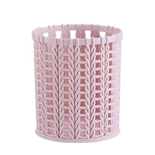 (SUJING Mesh Pencil Holder Pen Holder Plastic Pencil Cup Holder Pen Organizer Desk Organizer Holder (pink))