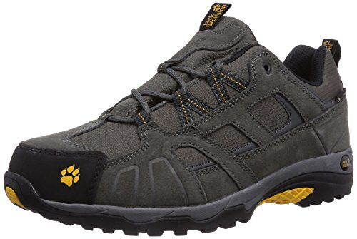 Jack Wolfskin Vojo Hike Texapore 4011381-30551 Herren Trekking- und Wanderhalbschuhe, grau (burly yellow 3800), 43 EU
