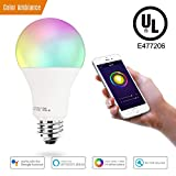 Smart LED Light Bulb A19 by 3Stone, Wifi App Controlled UL Listed, Dimmable Warm White and RGB Colors 65W Equivalent, Works Perfect with Amazon Alexa Google Assistant IFTTT